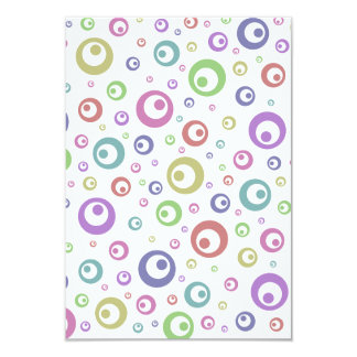 Multi-Color Abstract Polka Dots (Light) 3.5x5 Paper Invitation Card