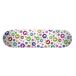 Multi-Color Abstract Polka Dots Skateboard