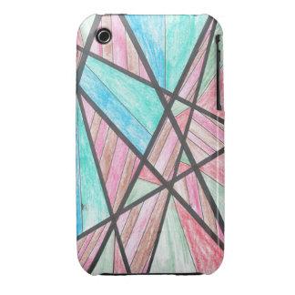 Multi-Color Angles iPhone 3 Case