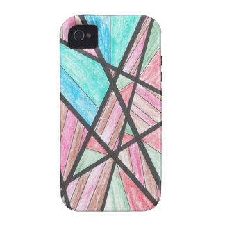 Multi-Color Angles iPhone 4 Case