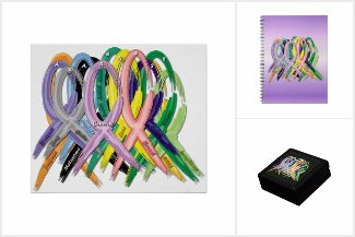 Multi-color Awareness Ribbons & Fundraising Walks