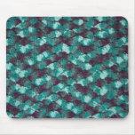 Multi-color blue crochet mouse pads
