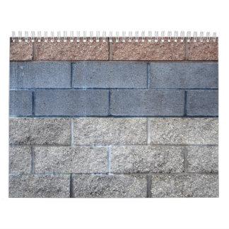 Multi Color Brick Wall Calendar