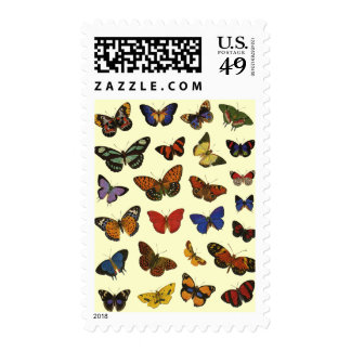 Multi-Color Butterflies Postage