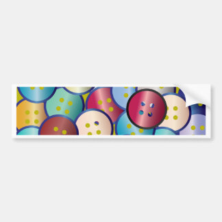 Multi Color Button Background Bumper Sticker