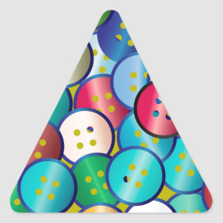 Multi Color Button Background Triangle Sticker