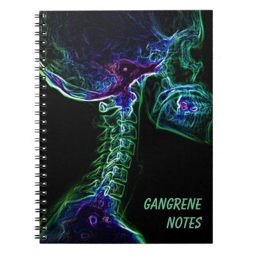 Multi-color C-spine C-spine notebook