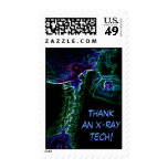 Multi-color C-Spine X-ray postage stamp
