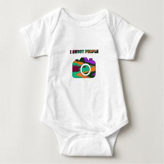 Multi Color Camera I Shoot People Baby Bodysuit