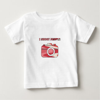 Multi Color Camera I Shoot People Baby T-Shirt