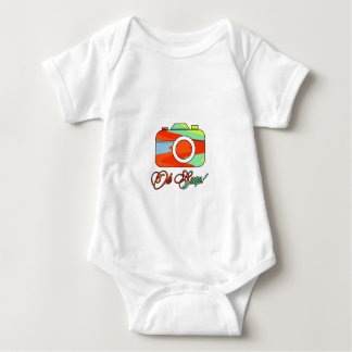 Multi Color Camera Oh Snap Baby Bodysuit