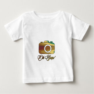 Multi Color Camera Oh Snap Baby T-Shirt