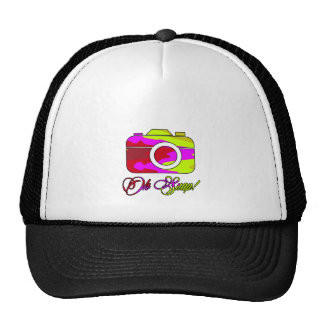 Multi Color Camera Oh Snap Trucker Hat
