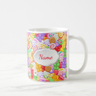 Multi Color Candy Personalized Mug