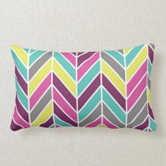 Multi-Color Chevron Large Pillow