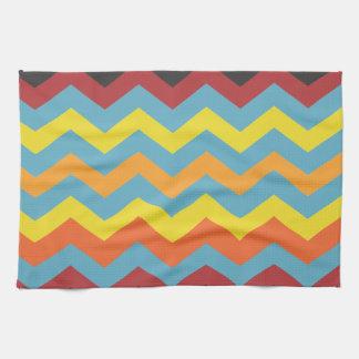 Multi color chevron pattern kitchen towel