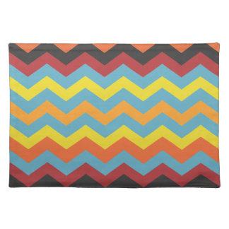 Multi color chevron pattern place mat