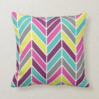 Multi Color Chevron Pillow