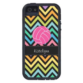 Multi Color Chevron Zigzag Volleyball Phone Case iPhone 5 Case