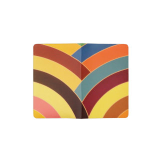 multi-color chic modern curved chevrons pocket moleskine notebook