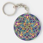 multi color circle key chain