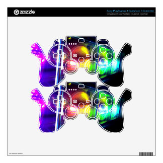 Multi color controls PS3 controller skin