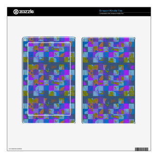 Multi-Color Design for Kindle Fire Skin