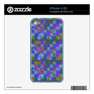Multi-Color Design on iPhone 4 Skins