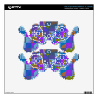 Multi-Color Design on PlayStation Controller Skin