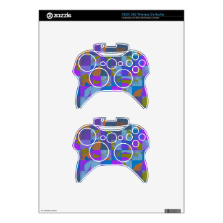 Multi-Color Design on XBox Controller Skin Xbox 360 Controller Decal