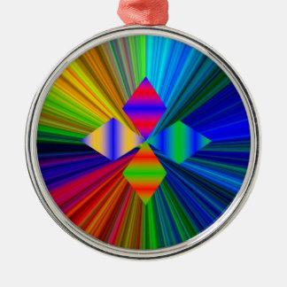 Multi Color Diamond Premium Round Ornament