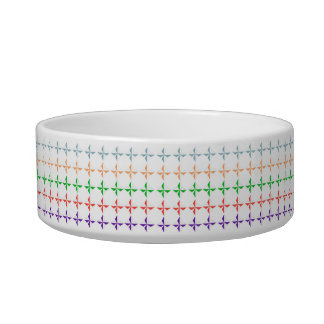 Multi color diamond shape modern elegant chic cute cat bowls
