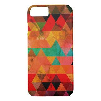 Multi Color Distressed Aztec Triangles iPhone 8/7 Case