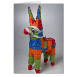 Multi Color Donkey pinata for parties Cards
