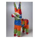Multi Color Donkey pinata for parties Post Cards
