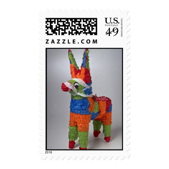 Multi Color Donkey pinata for parties Postage