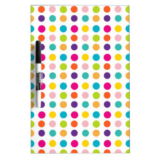Multi Color Dots Dry Erase Whiteboards