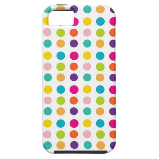 Multi Color Dots iPhone 5 Covers