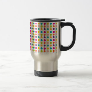 Multi Color Dots 15 Oz Stainless Steel Travel Mug