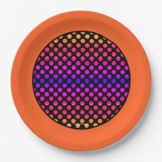 Multi-color Dots Orange Border Paper Plate  sc 1 st  Zazzle & Polka Dot Border Plates | Zazzle