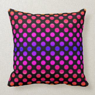 Multi-color Dots Throw Pillow