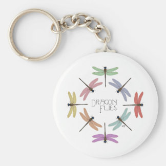 Multi Color Dragonflies Keychain