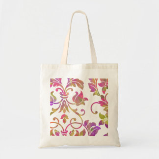 Multi-Color Embossed Damask Canvas Bags