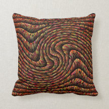 Multi-color Faux Swirled Tuck & Roll Throw Pillow