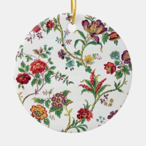 Multi-color floral wallpaper, c. 1912 christmas ornaments