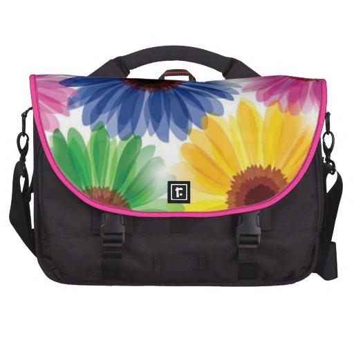 Multi Color Flowers Laptop Bag