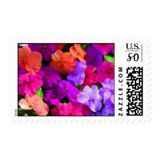 Multi Color Flowers Postage