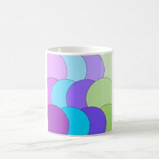 Multi-color fun circle wave coffee mug