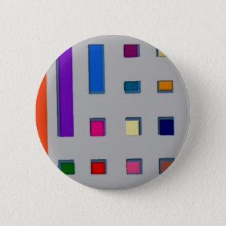 Multi color geometric pinback button