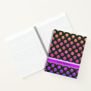 Beach Themed Multi-color Glow Look Dots Notebook